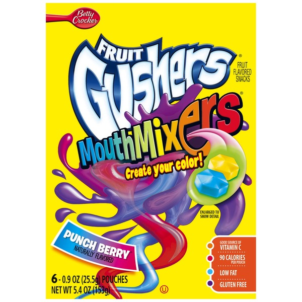 Fruit Gushers™ Mouth Mixers (6 Pouches)