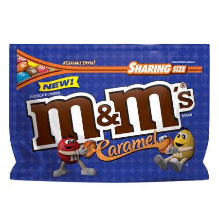 M&M's Caramel XL Sharing Pouch 9.6oz (272g) - A Taste of the States