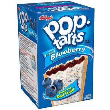 Kellogg's Pop Tarts Frosted Blueberry (8 pack) - A Taste of the States