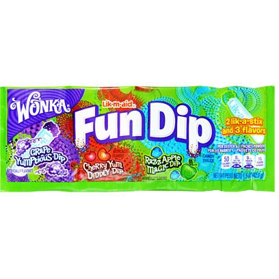 Wonka Fun Dip (3 Flavours) - A Taste of the States