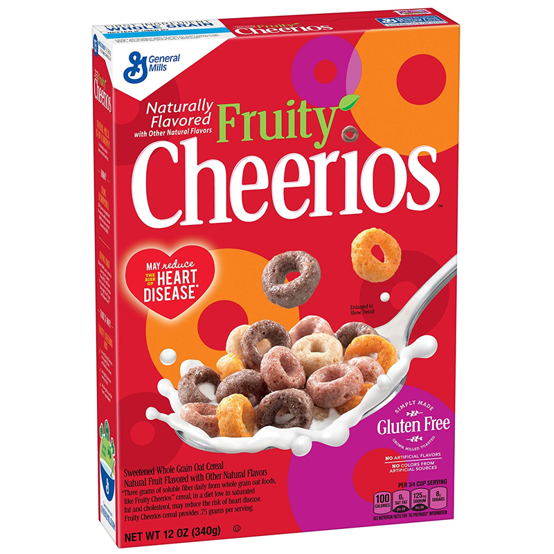 Cheerios Fruity Cereal 12oz (340g) - A Taste of the States