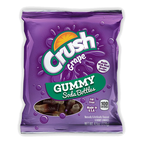 Crush Grape Gummy Soda Bottles (4.5oz) - A Taste of the States