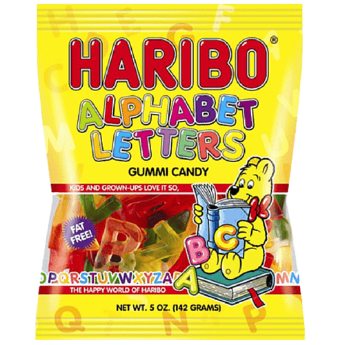 Haribo USA Alphabet Letters (5oz) - A Taste of the States