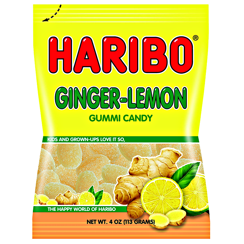 Haribo USA Ginger Lemon (4oz) - A Taste of the States