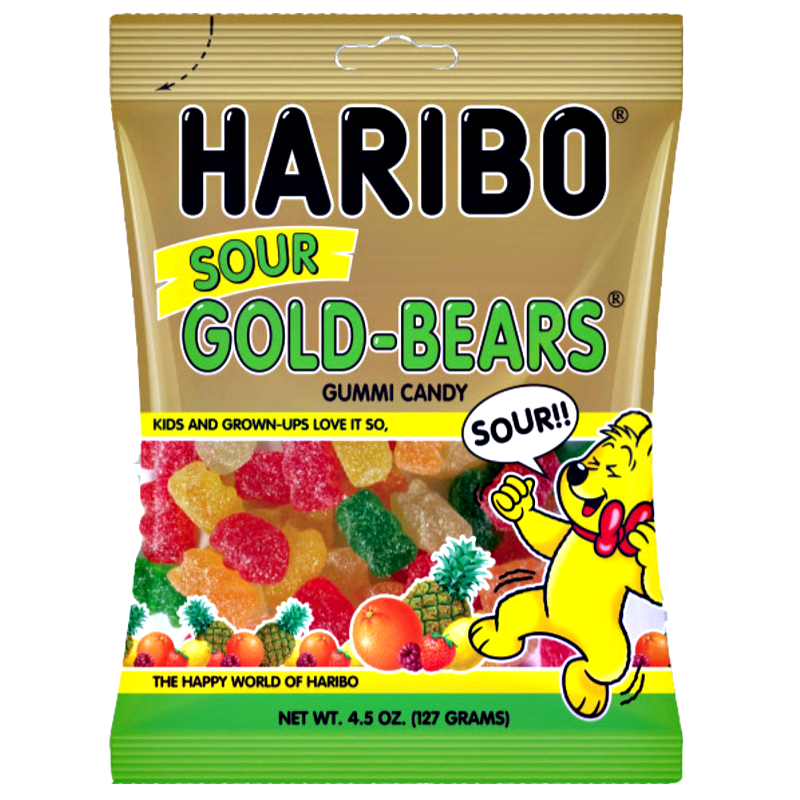 Haribo USA Sour Gold Bears (4.5oz) - A Taste of the States