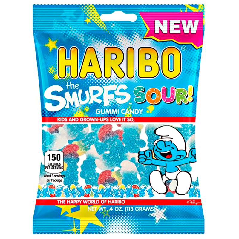 Haribo USA Smurfs Sour (4oz) - A Taste of the States