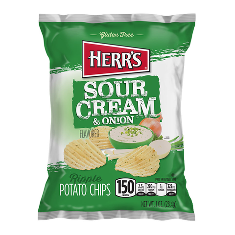 Herr's Sour Cream & Onion Potato Chips (1oz)