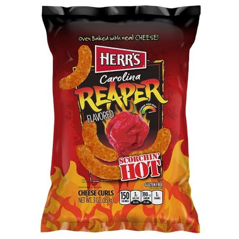 Herr's Carolina Reaper Cheese Curls (Big Bag 6.5oz)
