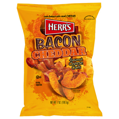 Herr's Bacon Cheddar Cheese Curls (7oz)