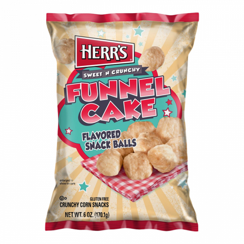 Herr's Funnel Cake flavoured Snack Balls (6oz) - A Taste of the States