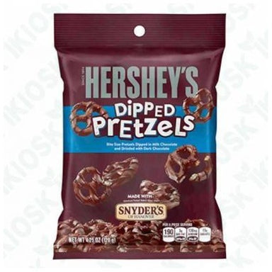 Hershey's Milk Chocolate Dipped Pretzels (120g) - A Taste of the States