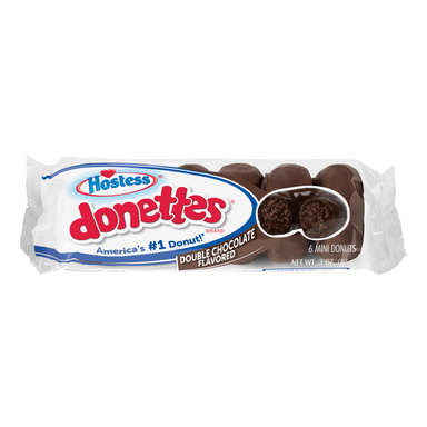 Hostess Double Chocolate Donettes (3oz) - A Taste of the States