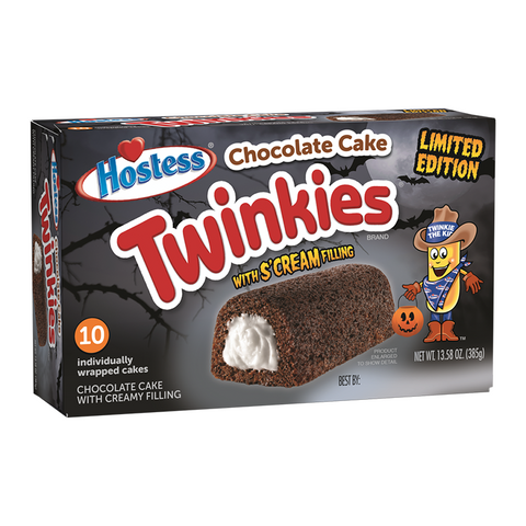 Hostess Halloween Chocolate S'cream Twinkies (Box of 10)