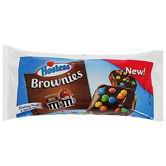 Hostess Brownies with M&M's Candy - Singles (2 pack)