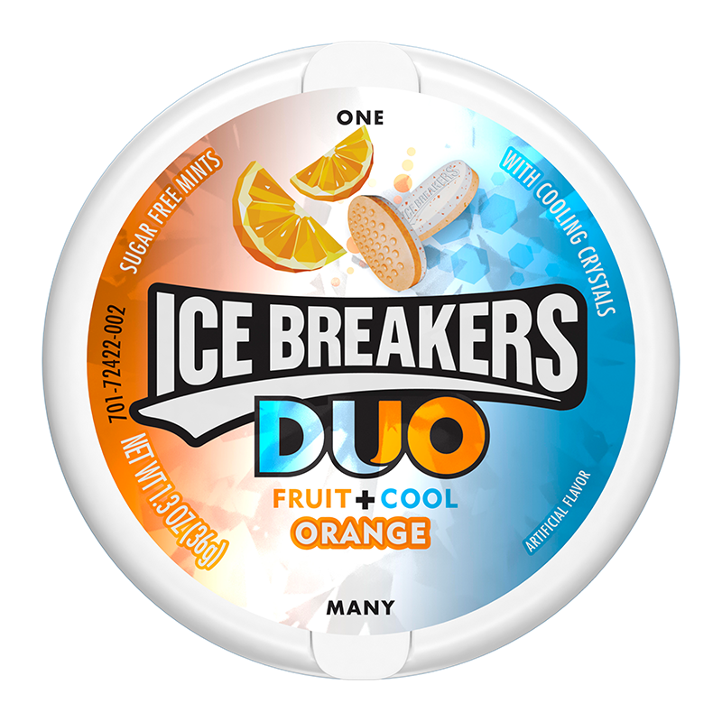 Ice Breakers DUO Orange Mints (1.3oz) - A Taste of the States