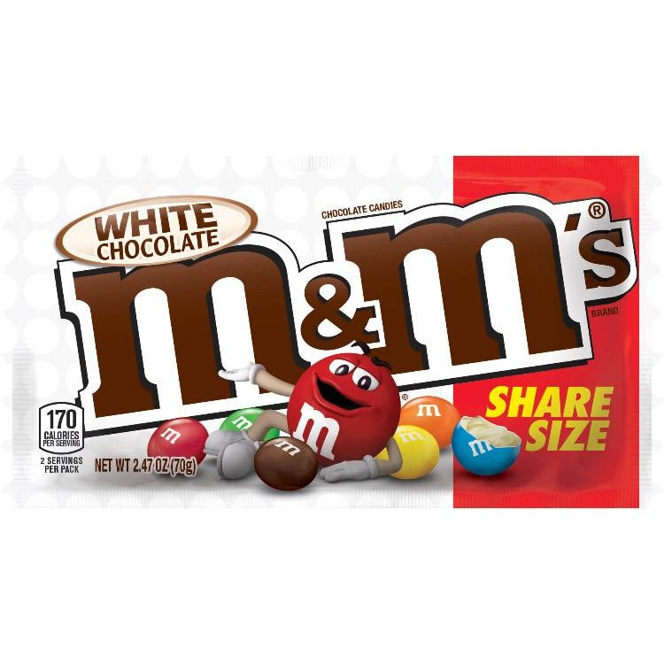 M&M's White Chocolate Share Size (2.47oz) - A Taste of the States