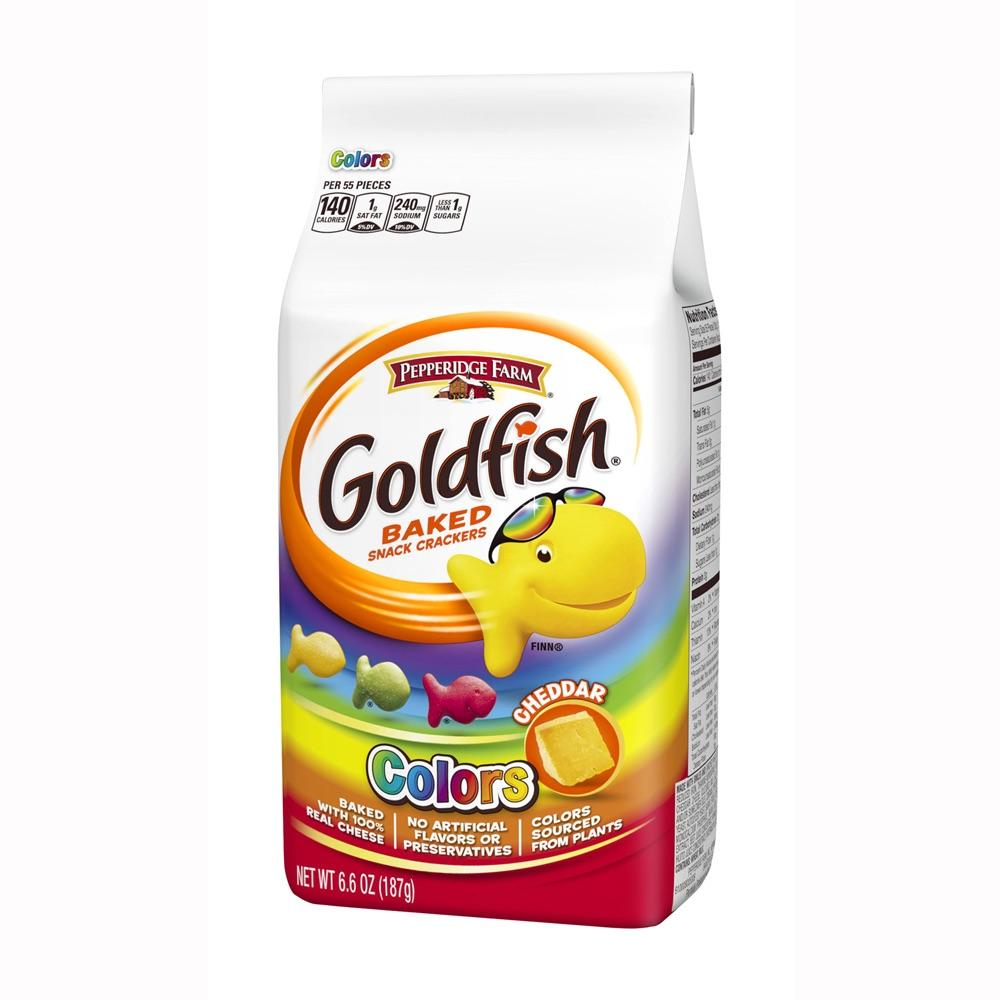 Goldfish Crackers Rainbow Colors (6.6oz) - A Taste of the States
