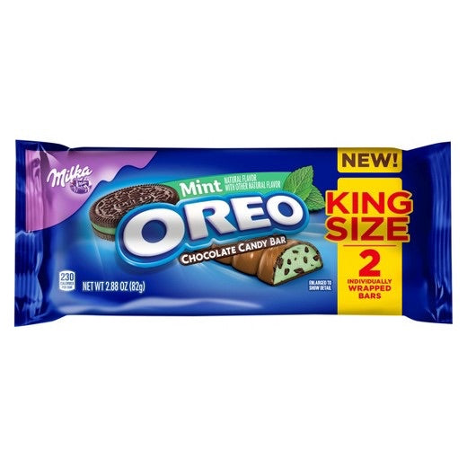 Milka Oreo Mint Chocolate King Size (2.88oz) - A Taste of the States