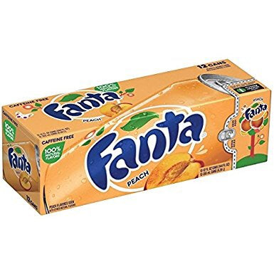 Fanta Peach Fridge Pack (12x355ml cans) - A Taste of the States
