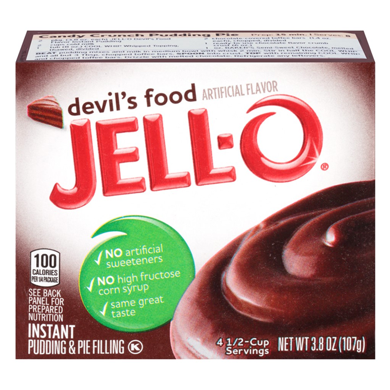Jell-o Devil's Food Instant Pudding Mix (3.4oz)