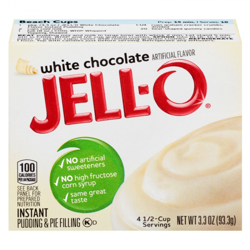 Jell-o White Chocolate Instant Pudding Mix (3.4oz)