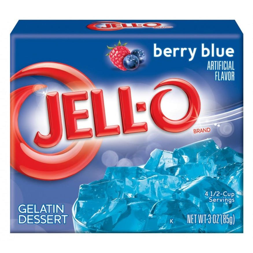 Jell-o Berry Blue 3oz (85g) - A Taste of the States