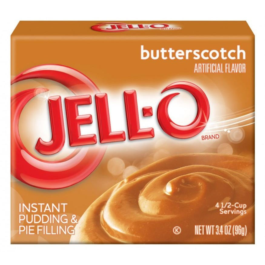 Jell-o Butterscotch Instant Pudding Mix (3.5oz) - A Taste of the States