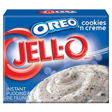 Jell-o Oreo Cookies and Creme Dessert (4.2oz) - A Taste of the States