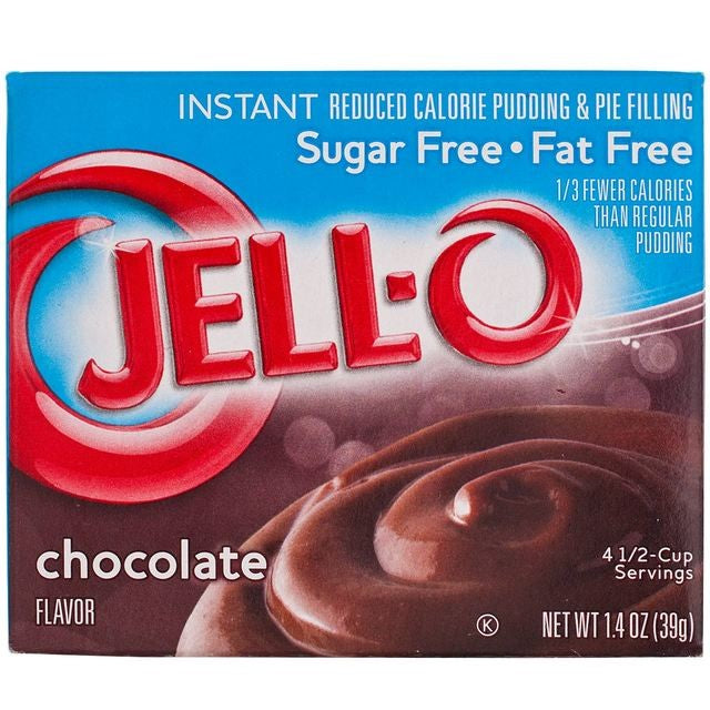 Jell-o SUGAR FREE Chocolate Pudding Mix (1.4oz)