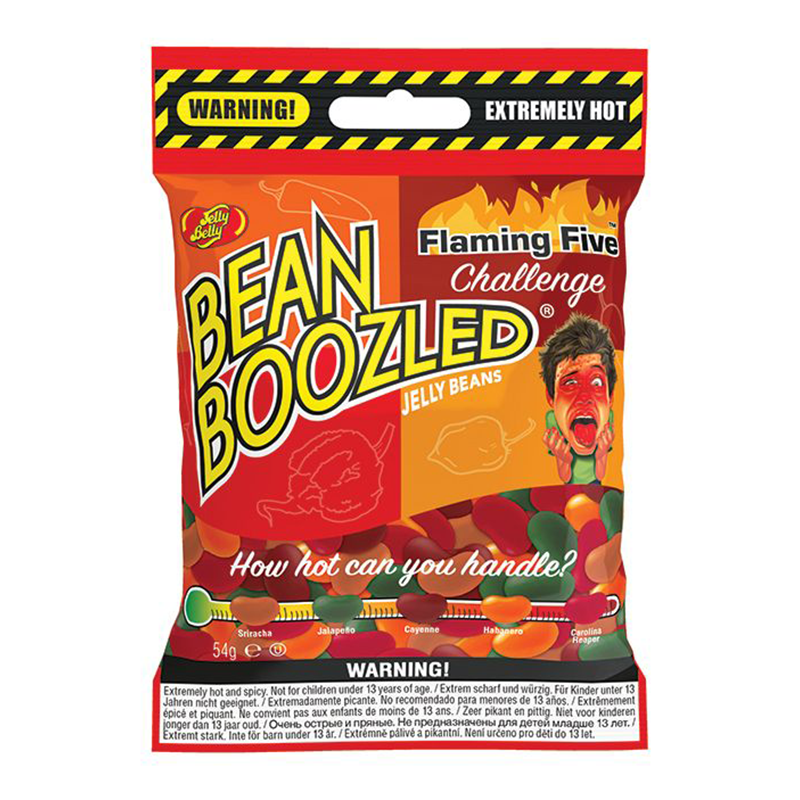 Jelly Belly Bean Boozled: Flamin' Five Challenge (54g bag)