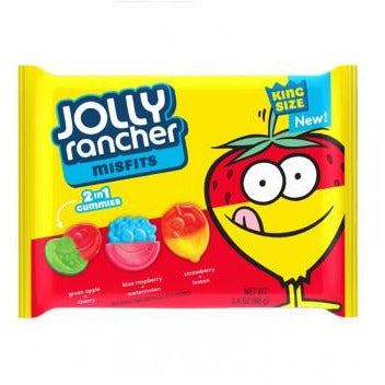 Jolly Rancher Misfits 2 in 1 Gummies (King Size) 3.4oz