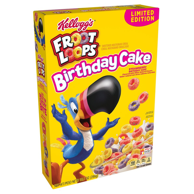 Kellogg's Froot Loops Birthday Cake: Limited Edition (10.1oz) - A Taste of the States