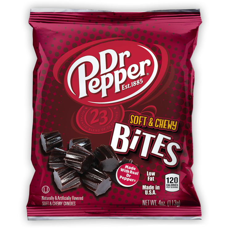 Dr Pepper Soft Chewy Twisted Candy Bites (4oz) - A Taste of the States