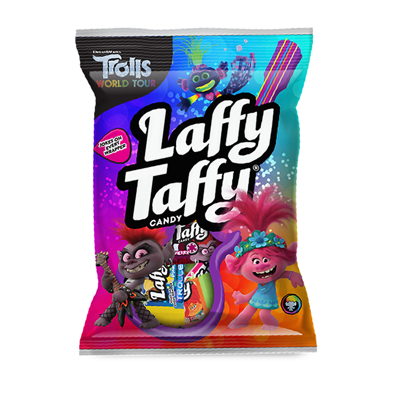 Wonka Laffy Taffy Trolls Peg Bag (3.8oz) - A Taste of the States