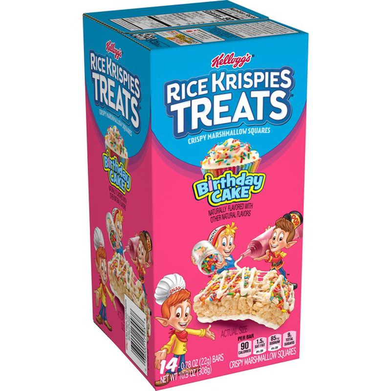 Kellogg's® Rice Krispies Treats® Birthday Cake (14 Bars)