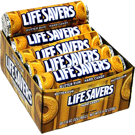 Lifesavers Butter Rum Hard Candy (1.14oz) - A Taste of the States