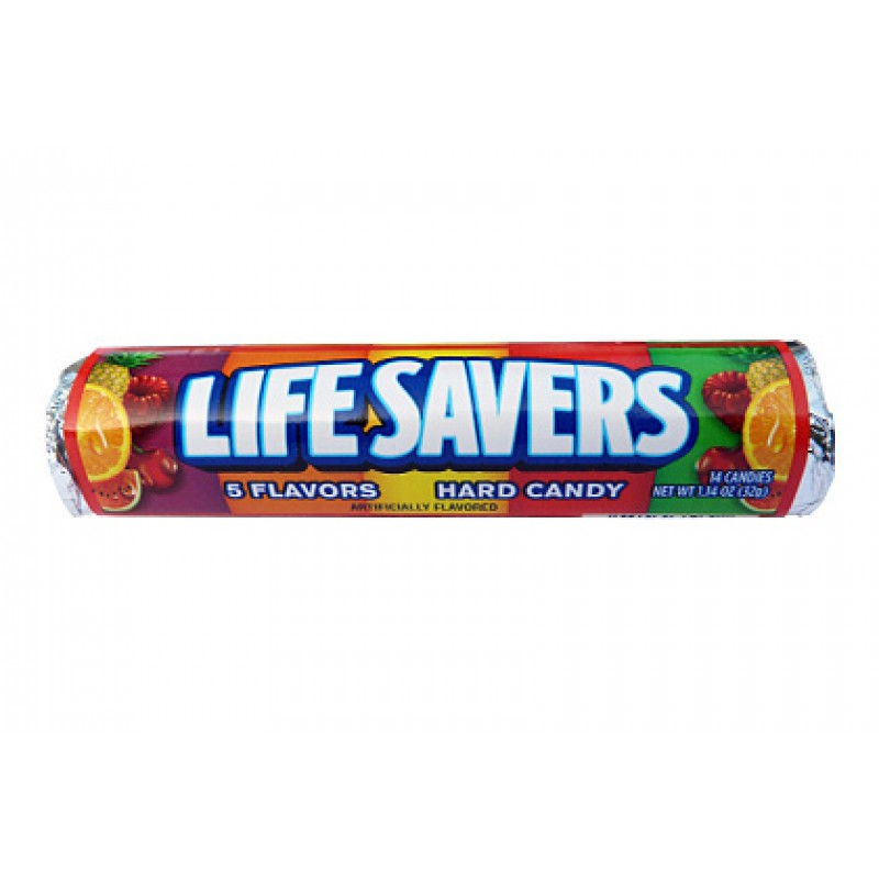 Lifesavers 5 Flavors Hard Candy Roll (1.14oz) - A Taste of the States