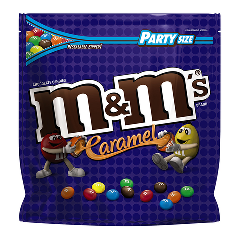 M&M's Caramel XXXL 34oz Stand Up Bag (963g) - A Taste of the States