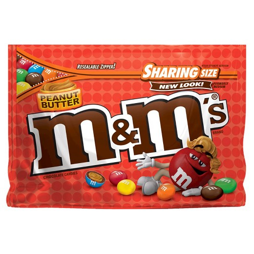 M&M's Peanut Butter XL Sharing Pouch 9.6oz (272g)