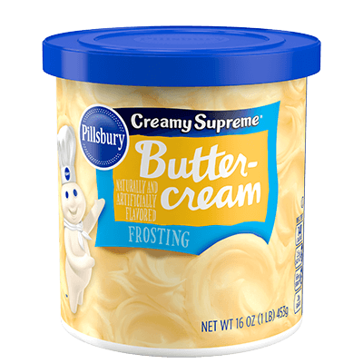 Pillsbury Creamy Supreme Buttercream Frosting (453g) - A Taste of the States