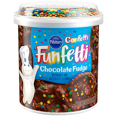 Pillsbury Funfetti Chocolate Fudge Frosting (442g) 15.6oz - A Taste of the States