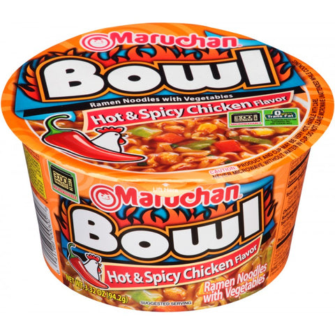 Maruchan Bowl Noodles | Hot & Spicy Chicken (3.3oz)