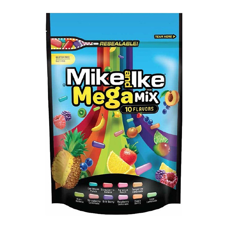 Mike & Ike Mega Mix 10oz Stand-up Bag (283g) - A Taste of the States