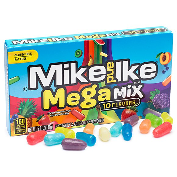 Mike & Ike Mega Mix Theater Box (5oz) 141g - A Taste of the States