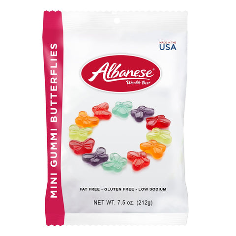 Albanese 12 Flavour Mini Gummi Butterflies (7.5oz) - A Taste of the States