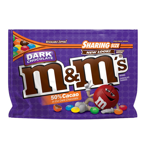 M&M's Dark Chocolate Sharing Pouch 10.1oz (286g)