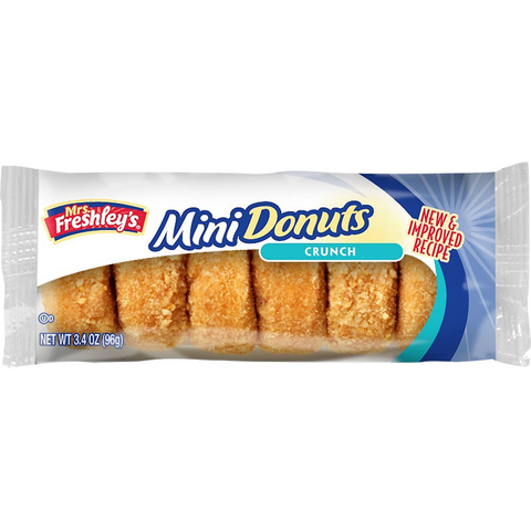 Mrs Freshleys Crunch Mini Donuts (6pk) - A Taste of the States