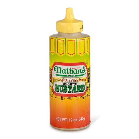 Nathan's The Original Coney Island Mustard (12oz Squeezy Bottle) - A Taste of the States