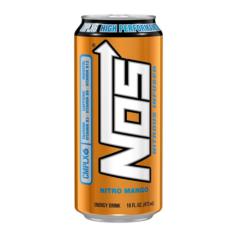 NOS Energy Drink: Nitro Mango (16oz)