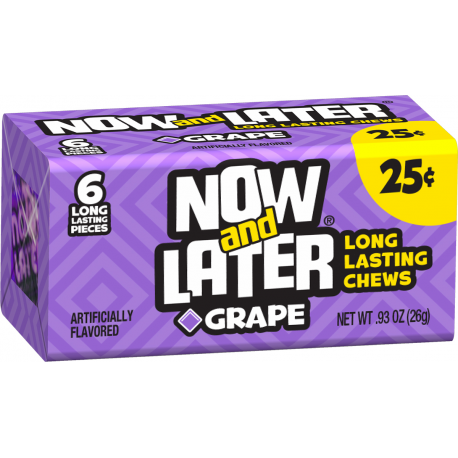 Now & Later Chews (Grape) 26g - A Taste of the States